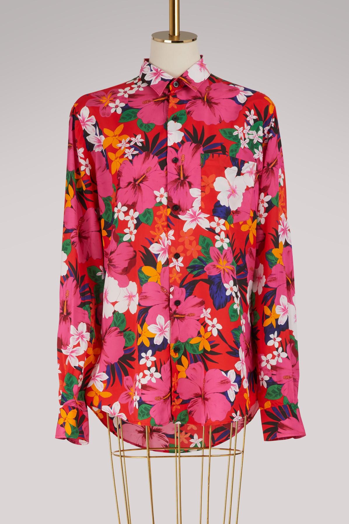 AMI | Printed flowers shirt | Goxip