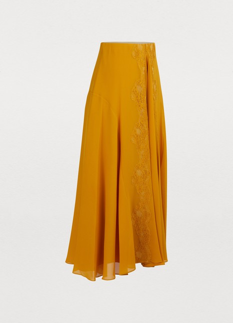Chloé Silk midi skirt