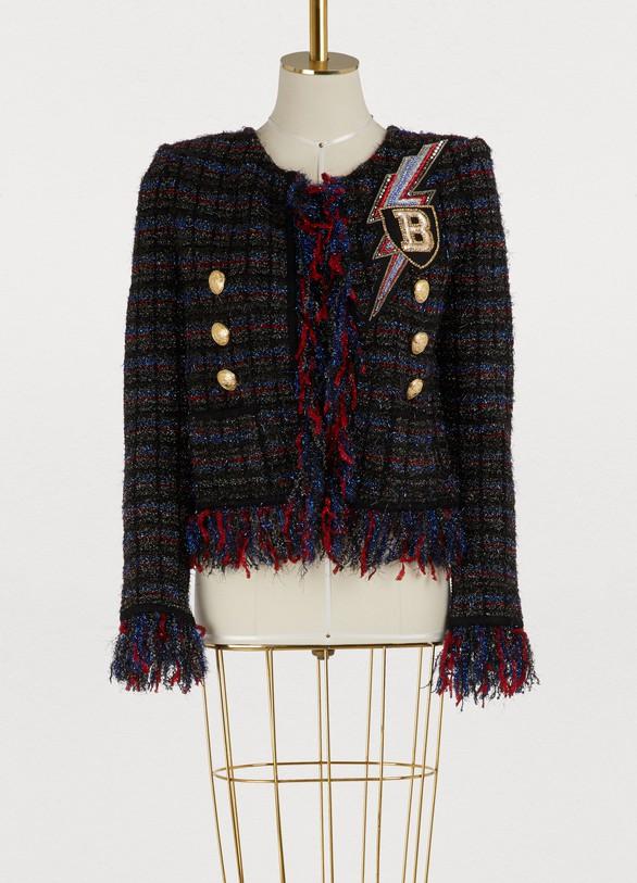 En Femme 24 Sèvres Tweed Veste Balmain dSpdn