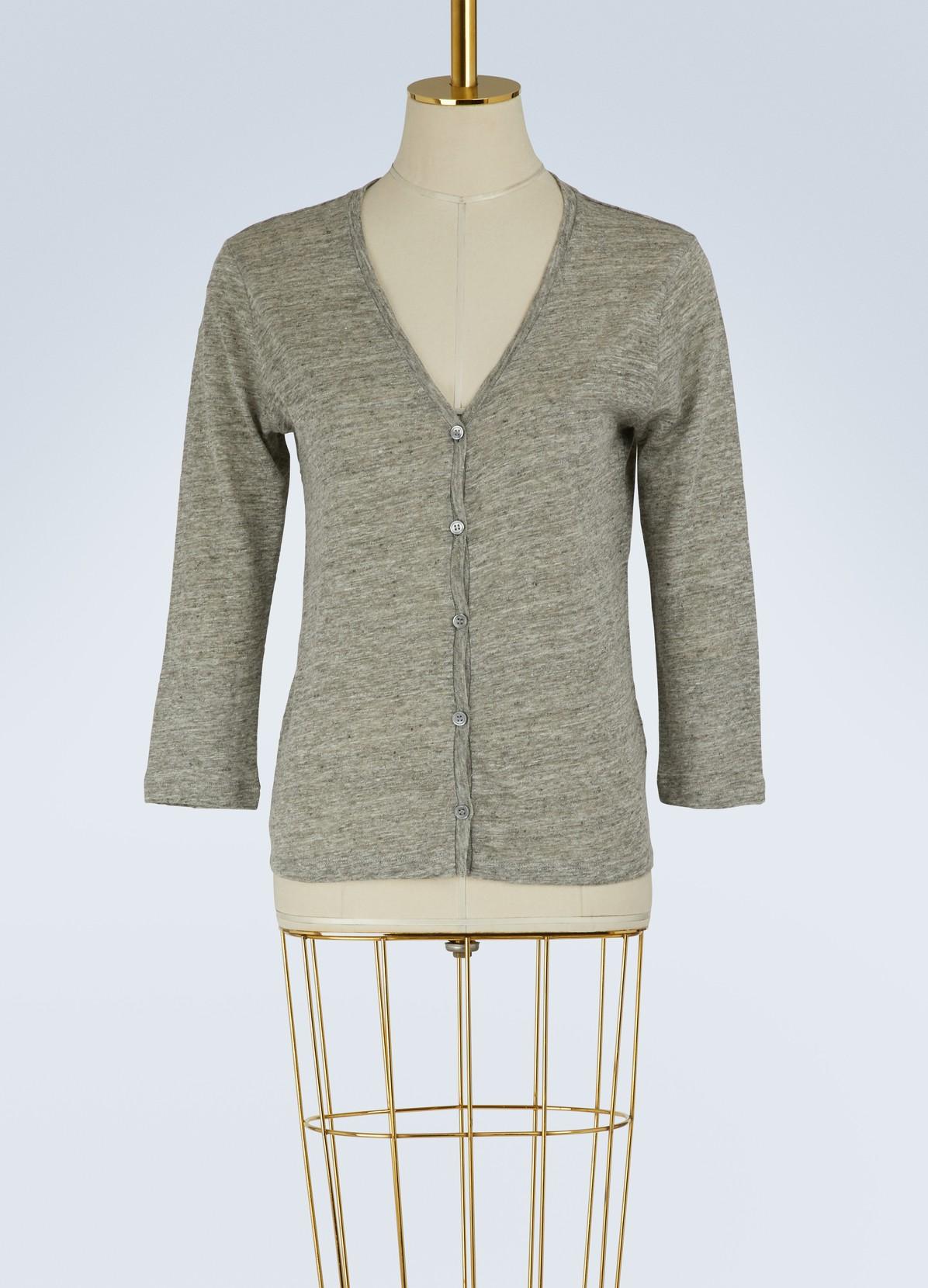 Linen Cardigan | MAJESTIC FILATURES | 24 Sèvres