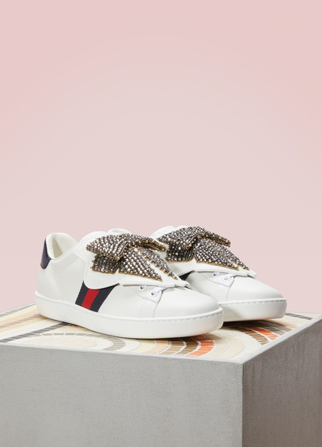 GucciAce Sneakers with Detachable Embroideries