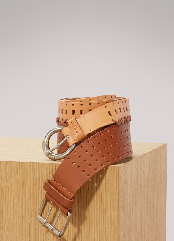 Maison Margiela Perforated double belt