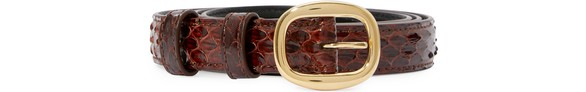 CELINEElegant belt in water snake leather.