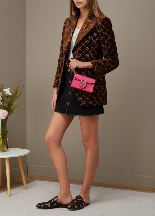 5449ccb925c ... Gucci Dionysus velvet super mini bag with crystals ...