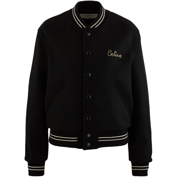 CELINEWoollen Celine embroidered Teddy jacket