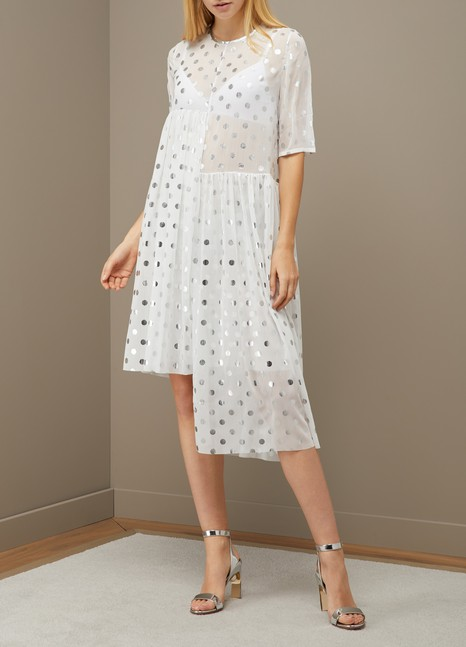 Paskal Asymmetric polka dot dress