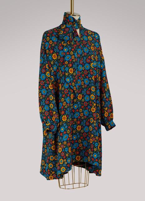BalenciagaFlower long-sleeved dress