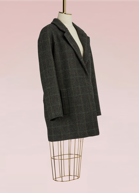 32 Paradis Sprung Frères Glen Plaid Short Coat