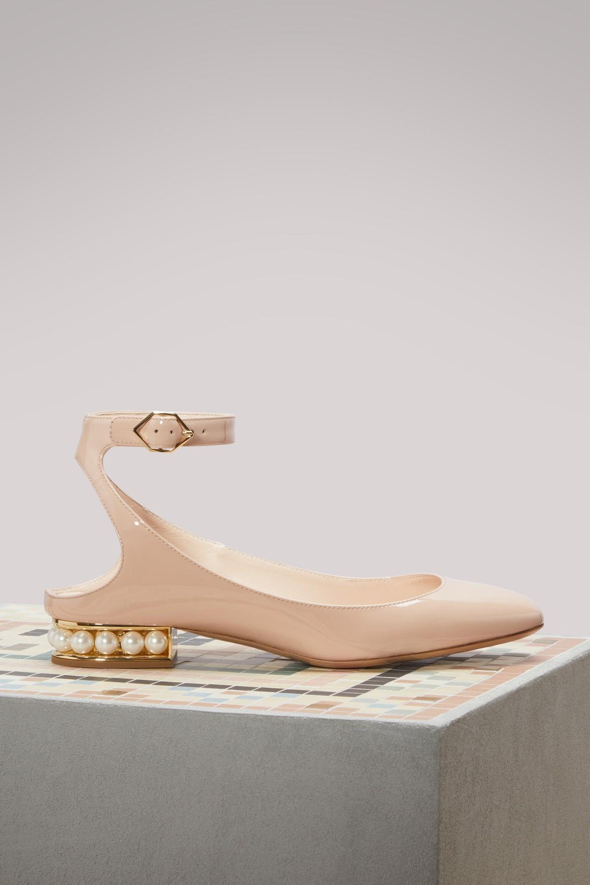 NICHOLAS KIRKWOOD | Lola Patent Leather Ballerina Flats | Goxip