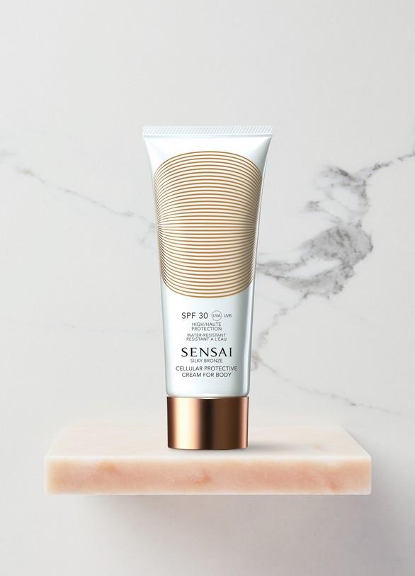 SensaiSilky Bronze Crème Protection Cellulaire Corps SPF 30