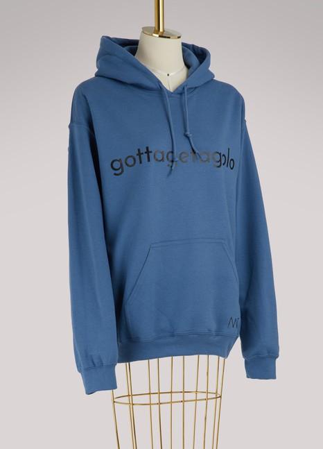 Alexandra GolovanoffSweat à capuche logo en coton