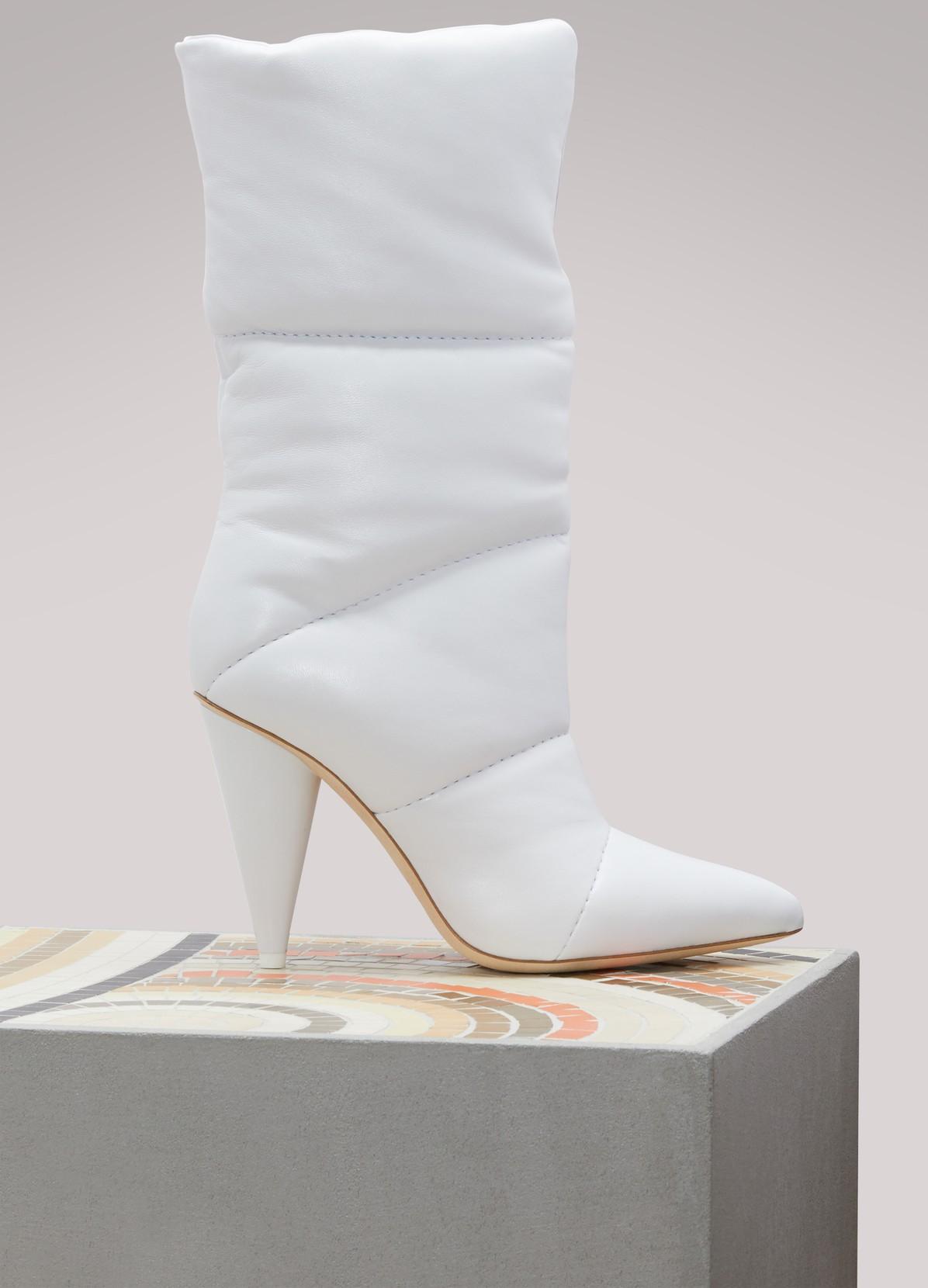 JIMMY CHOOx Off-White Sara 100 boots