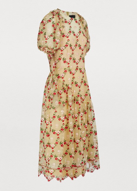 SIMONE ROCHA Floral print dress
