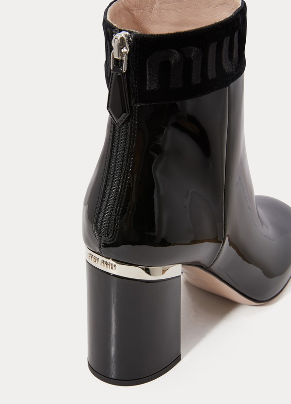 6884f8ee789b Miu Miu Patent leather ankle boots ...