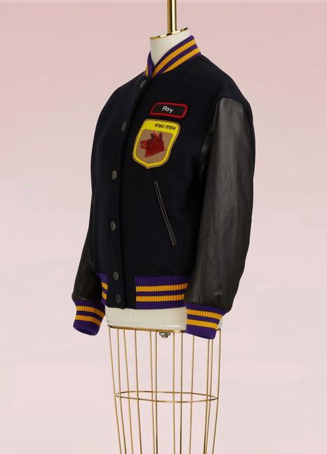 Miu MiuWool and Leather Bomber Jacket