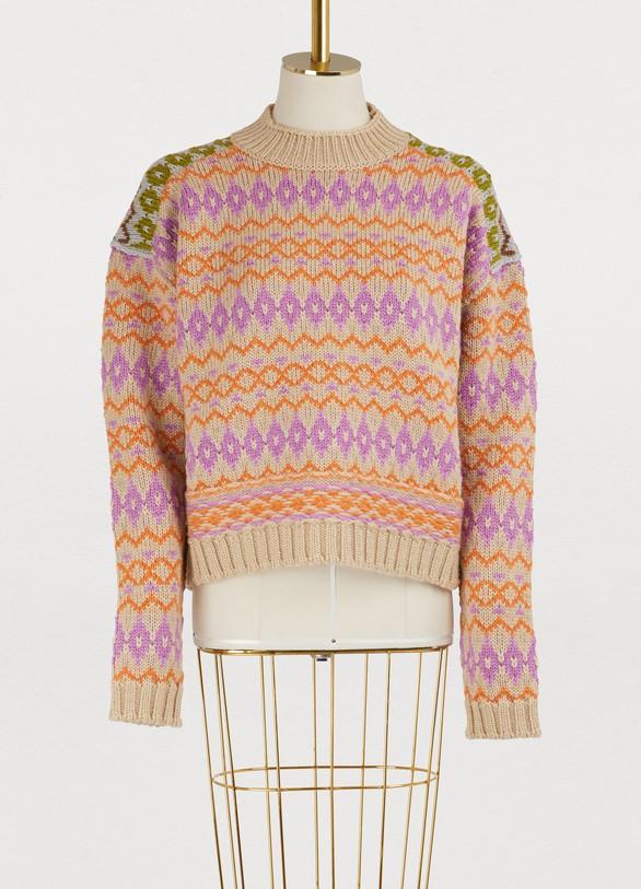 Pull en laine à motifs femme   Acne Studios   24 Sèvres 3af82e44eff