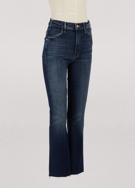 MotherThe Hustler high-waisted cropped bootcut jeans