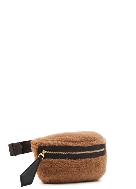 MAX MARATeddy wool and alpaca belt bag