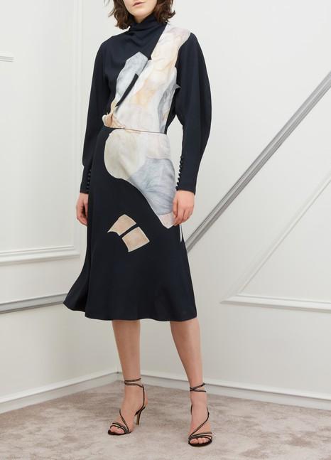 Nina RicciLong-sleeved printed dress