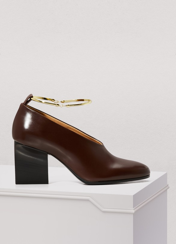 Jil Sander Ring leather pumps