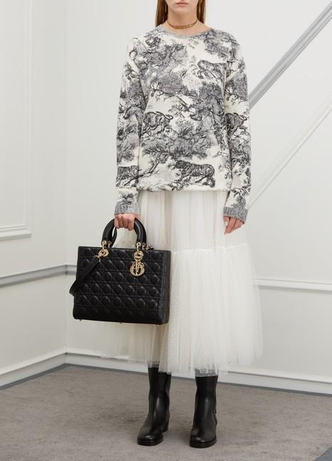 DiorSac à main Lady Dior en cuir d'agneau