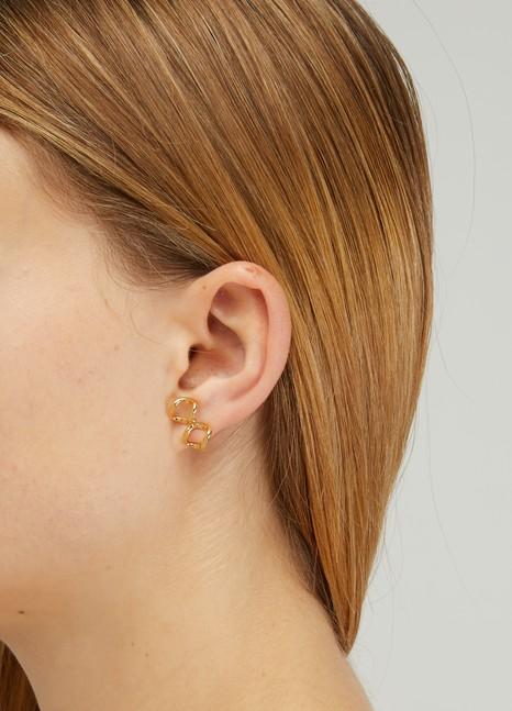 IMAIBoucles d'oreille Papillon Gourmette