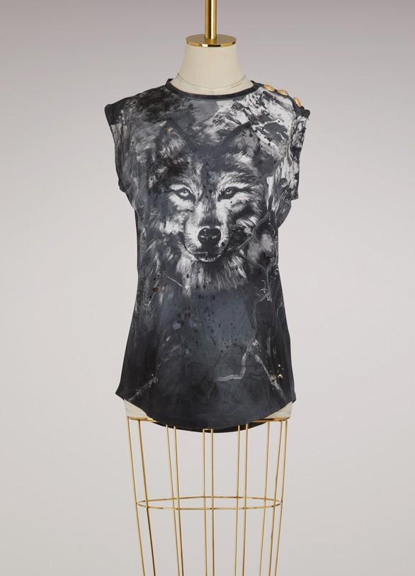 BalmainT-shirt à imprimé