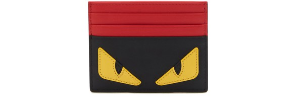 FENDI Bugs leather card holder
