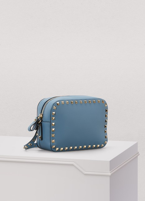 Valentino Small Criss-crossed Rockstud Bag