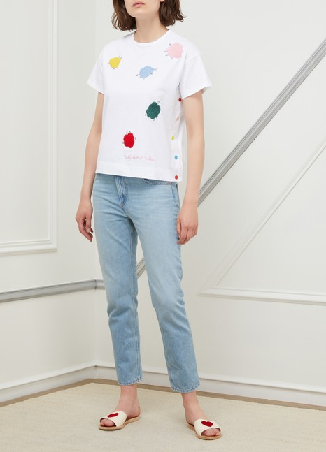 Mira MikatiMonster embroidered cotton T-shirt