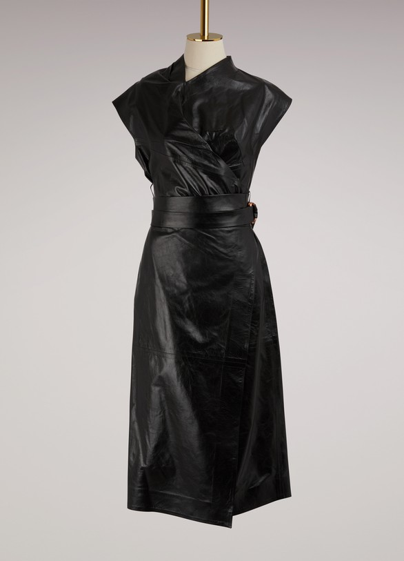 Proenza Schouler Wrap leather dress