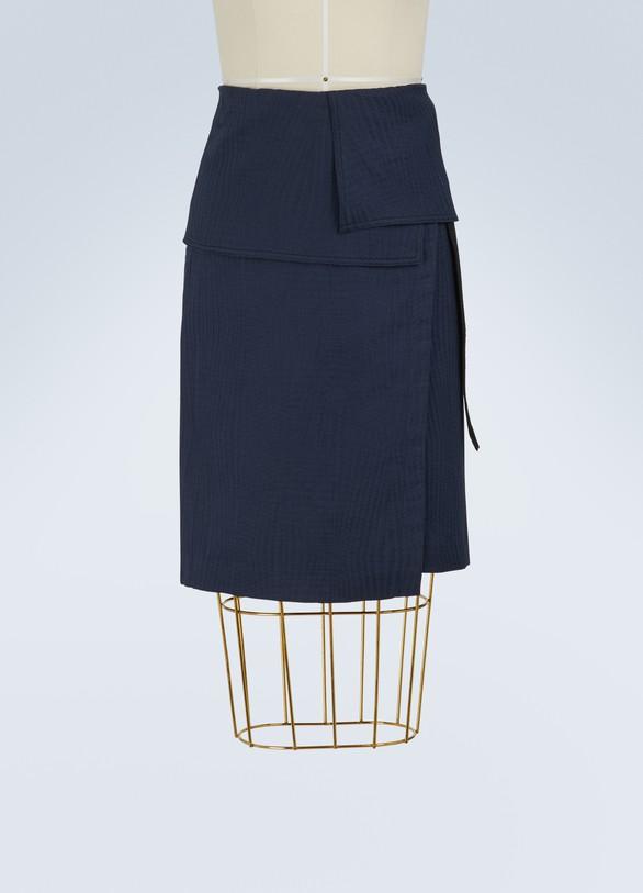 VANESSA BRUNOJupe Isalys portefeuille en coton