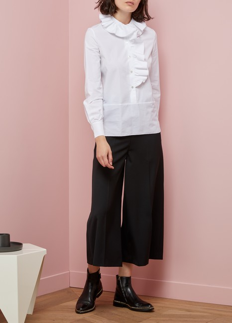 LanvinRuffled cotton shirt
