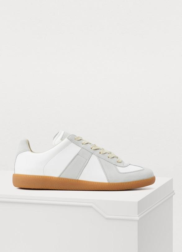 Maison MargielaLeather Replica Sneakers