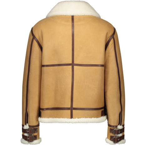 LOEWE Shearling Aviator leather coat