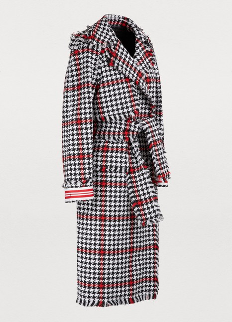 MSGM Tweed trench coat