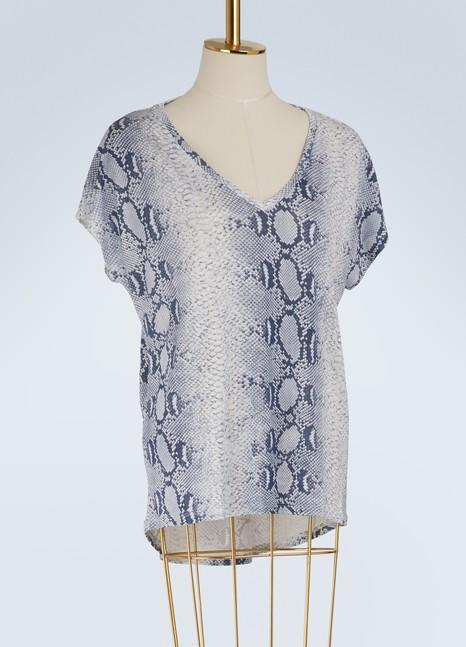 Majestic FilaturesOversize V-neck T-shirt