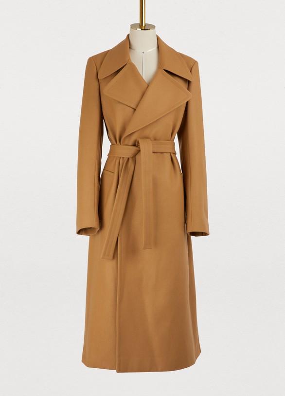 manteau long avec ceinture femme pallas 24 s vres. Black Bedroom Furniture Sets. Home Design Ideas