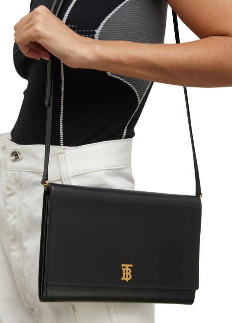 BURBERRYPaxton full-grain calfskin shoulder bag
