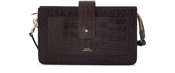 A.P.C.Albane crocodile effect pouch