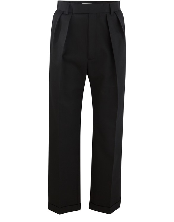 CELINE Trousers with two pleats and turn-ups