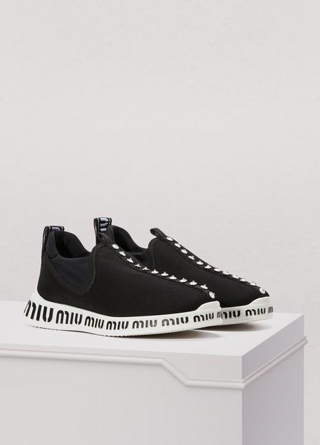 Miu MiuMiu sole socks sneakers
