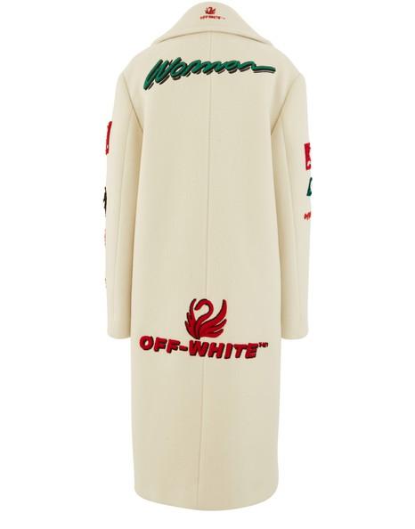 OFF-WHITEWool blend multi-logo coat