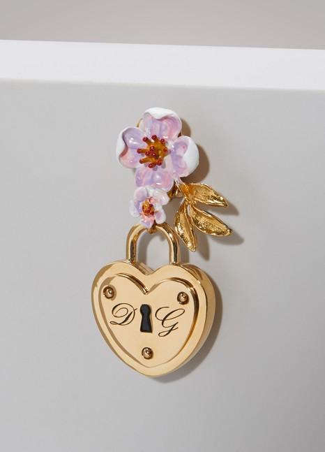 Dolce & GabbanaHeart lock earrings