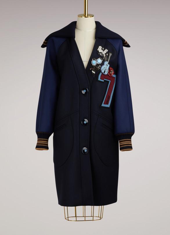 Miu MiuEmbroidered Bomber Coat