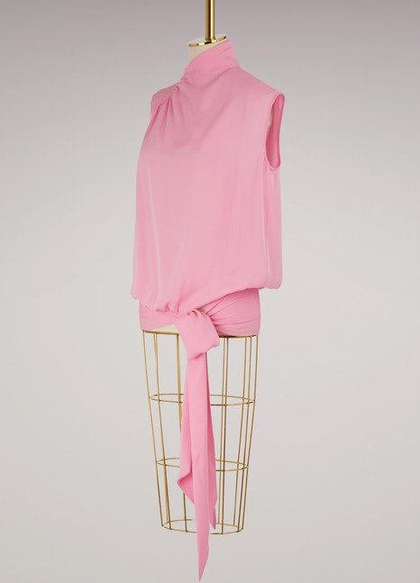 Maison Margiela Knotted silk top