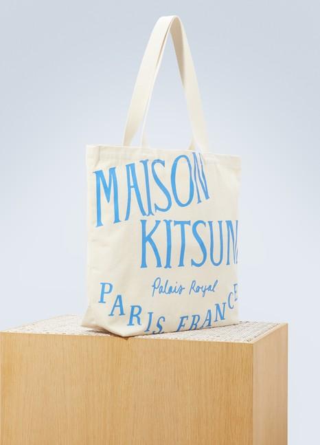 MAISON KITSUNESac porté épaule logo en coton