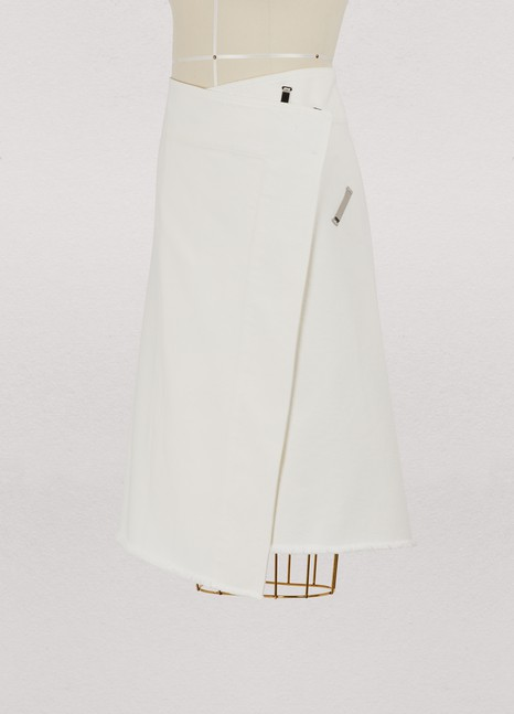 Céline Wrap skirt in denim