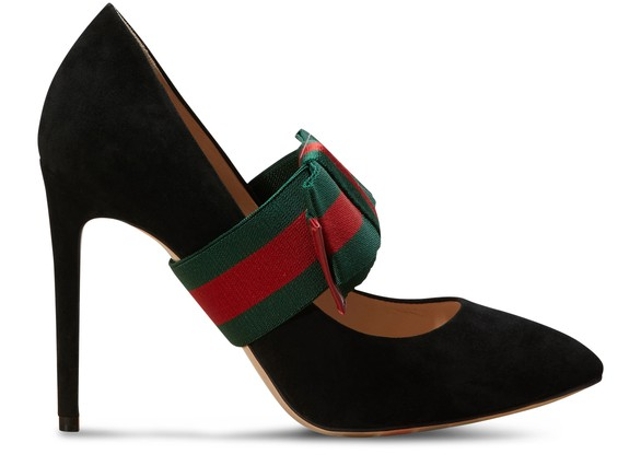 GUCCIBow leather pumps