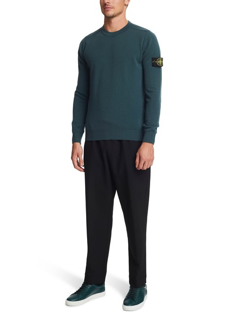 STONE ISLAND Round-neck jumper in wool